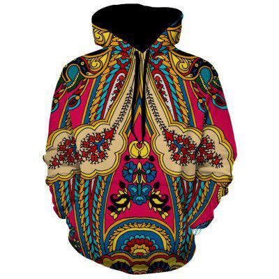 Ethnic Style Print Pullover Hoodie