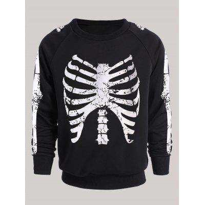 Raglan Sleeve Luminous Skeleton Print SweatshirtMens Hoodies &amp; Sweatshirts<br>Raglan Sleeve Luminous Skeleton Print Sweatshirt<br><br>Material: Polyester, Spandex<br>Package Contents: 1 x Sweatshirt<br>Shirt Length: Regular<br>Sleeve Length: Full<br>Style: Fashion<br>Weight: 0.4600kg