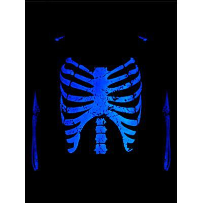 Raglan Sleeve Luminous Skeleton Print Sweatshirt