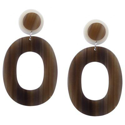 Vintage Acrylic Round Oval Drop Earrings