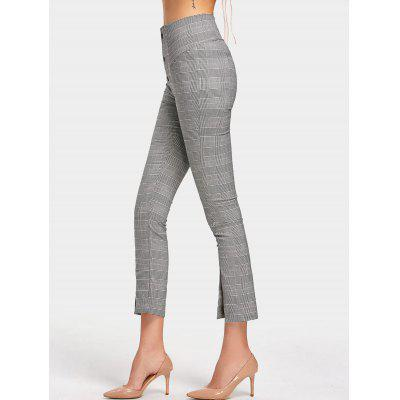 Checked High Waisted Slit Pencil PantsPants<br>Checked High Waisted Slit Pencil Pants<br><br>Closure Type: Zipper Fly<br>Fit Type: Skinny<br>Material: Cotton, Polyester<br>Package Contents: 1 x Pants<br>Pant Style: Pencil Pants<br>Pattern Type: Plaid<br>Style: Fashion<br>Waist Type: High<br>Weight: 0.3500kg<br>With Belt: No