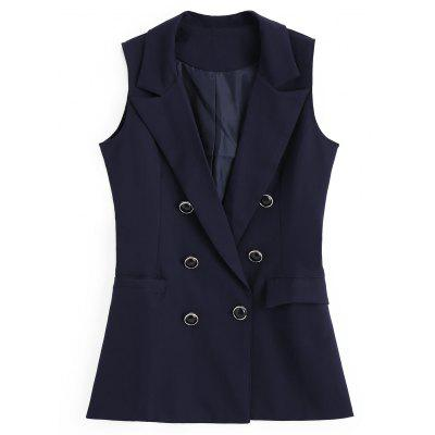 Asymmetric Pockets Double-breasted Waistcoat