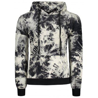 Hooded Drop Shoulder Tie Dye Pullover Hoodie