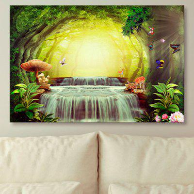 Wonderland Print Unframed Wall Art Canvas Painting