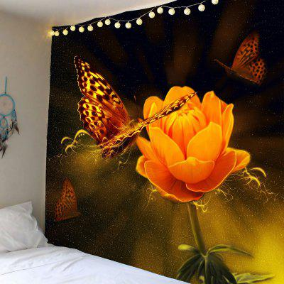 Buy COLORFUL Flower Butterfly Printed Wall Hanging Tapestry for $18.14 in GearBest store