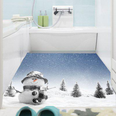 Buy COLORMIX Snowman Pattern Removable Wall Sticker for $11.57 in GearBest store