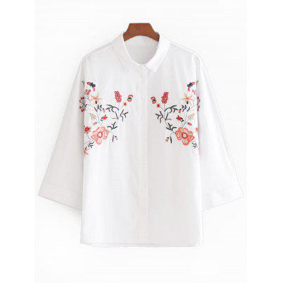 Flower Patched Shirt
