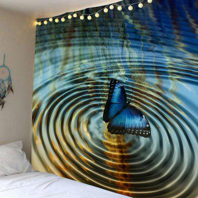 Water Butterfly Pattern Wall Hanging Tapestry
