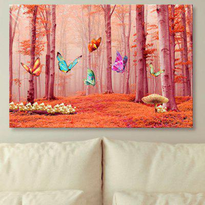 Butterfly Forest Print Unframed Wall Art Canvas Painting