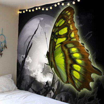 Moon Butterfly Pattern Wall Hanging Tapestry