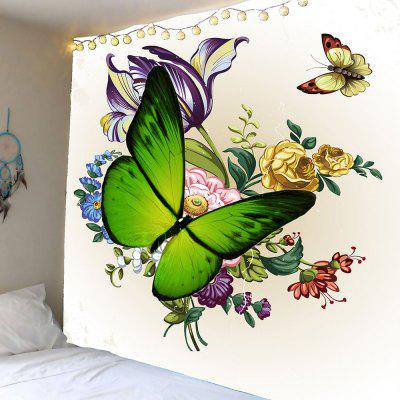 Floral Butterflies Printed Wall Hanging Tapestry