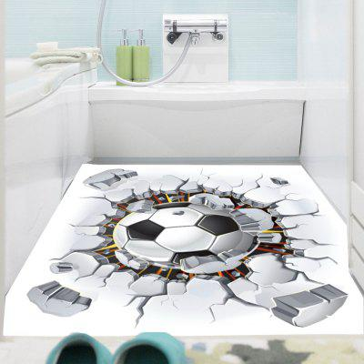 3D Broken Wall Football Pattern Removable Wall Sticker