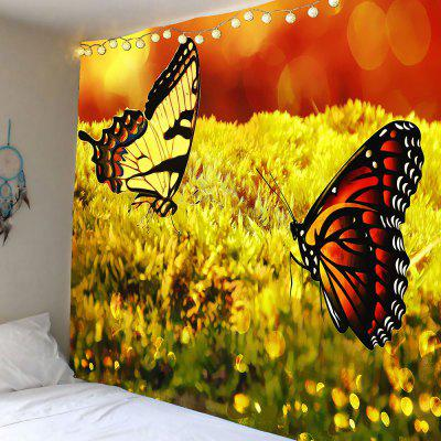 Two Butterflies Pattern Wall Hanging Tapestry