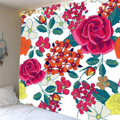 Flowers Pattern Waterproof Wall Hanging Tapestry