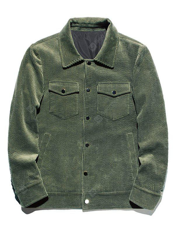 Snap Button Chest Pocket Corduroy Jacket