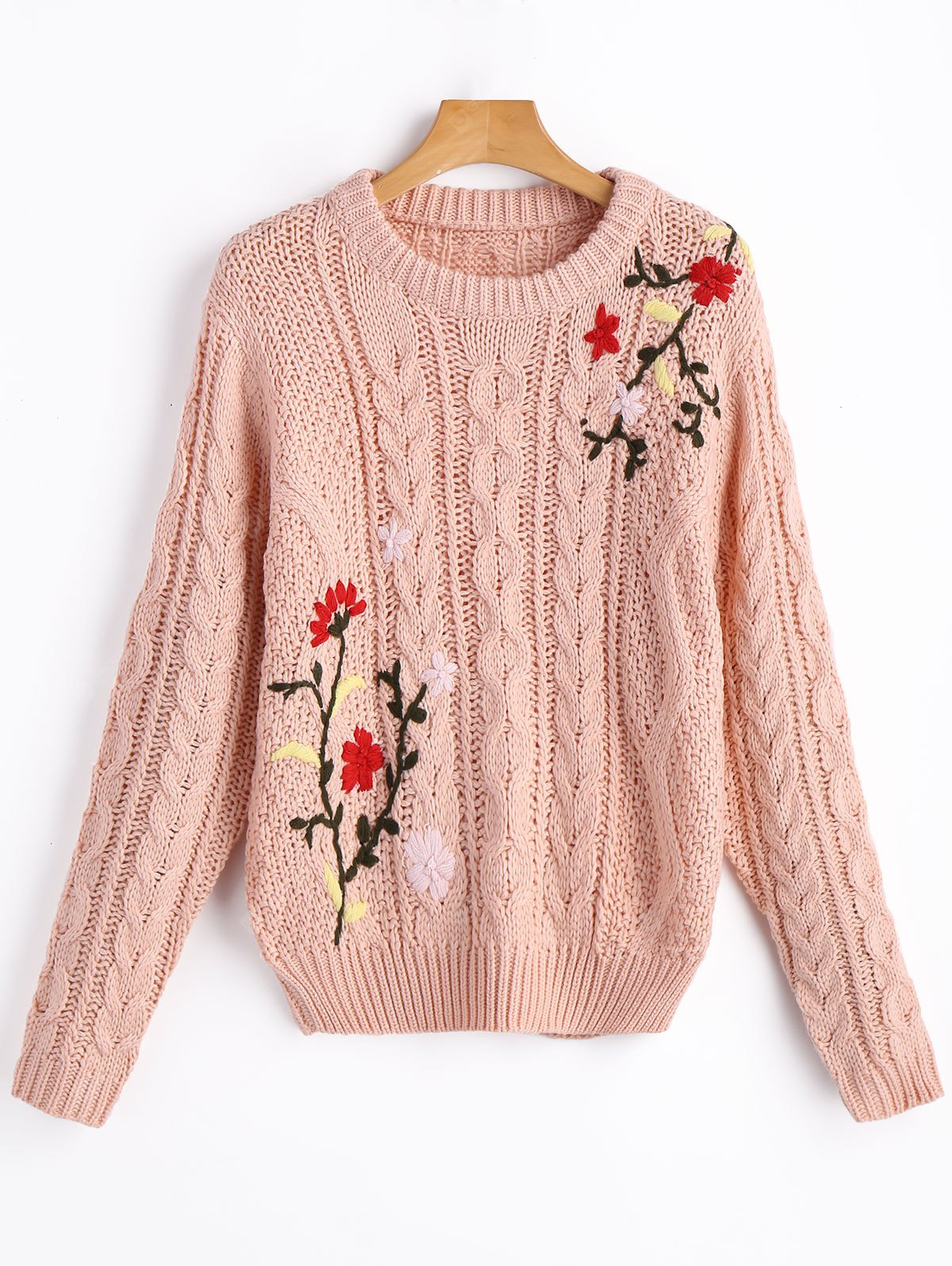 Chunky Jacquard Cable Knit Sweater