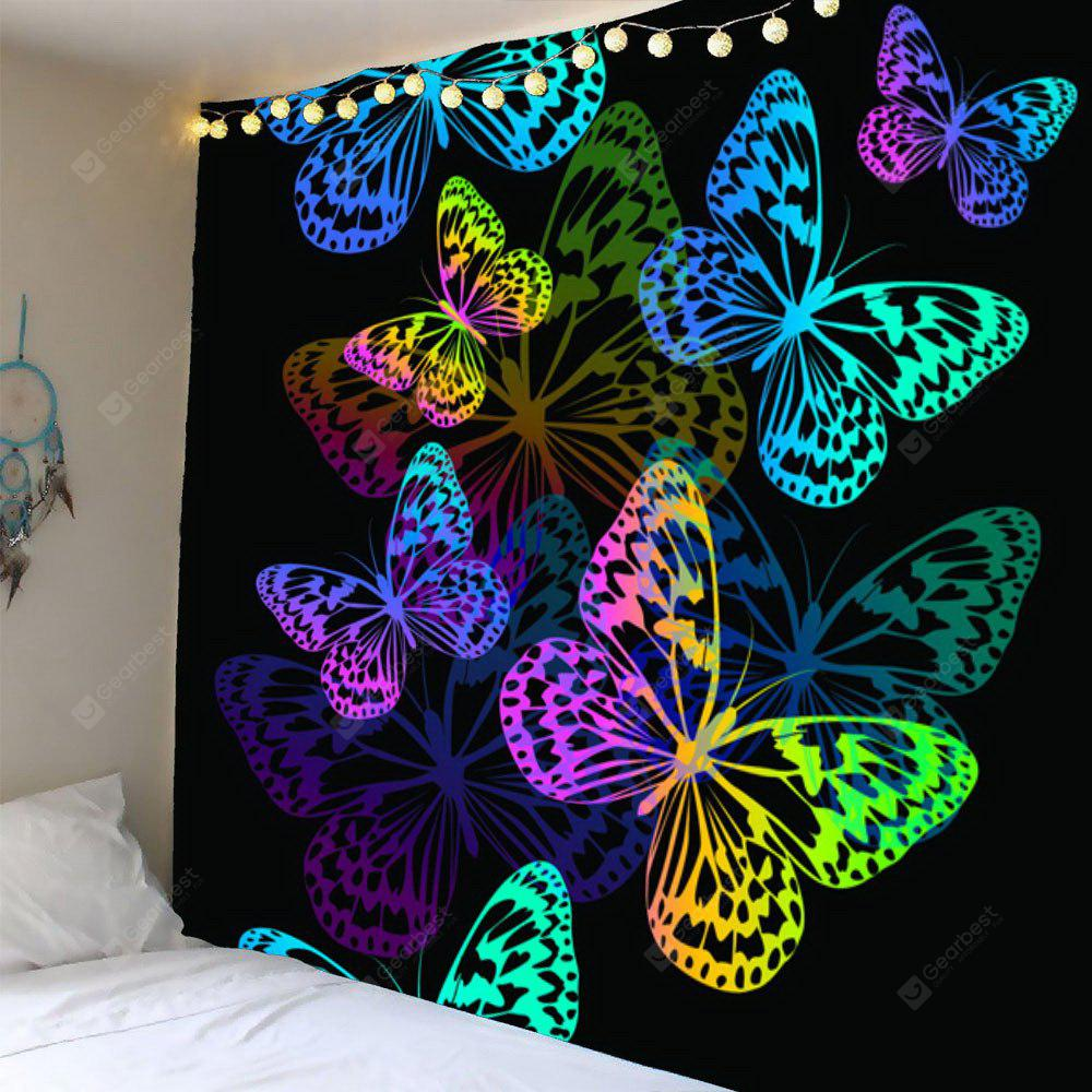 Colorful Butterfly Pattern Waterproof Wall Hanging Tapestry