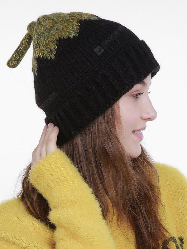 Lotus Leaf Christmas Knit Hat with Tail