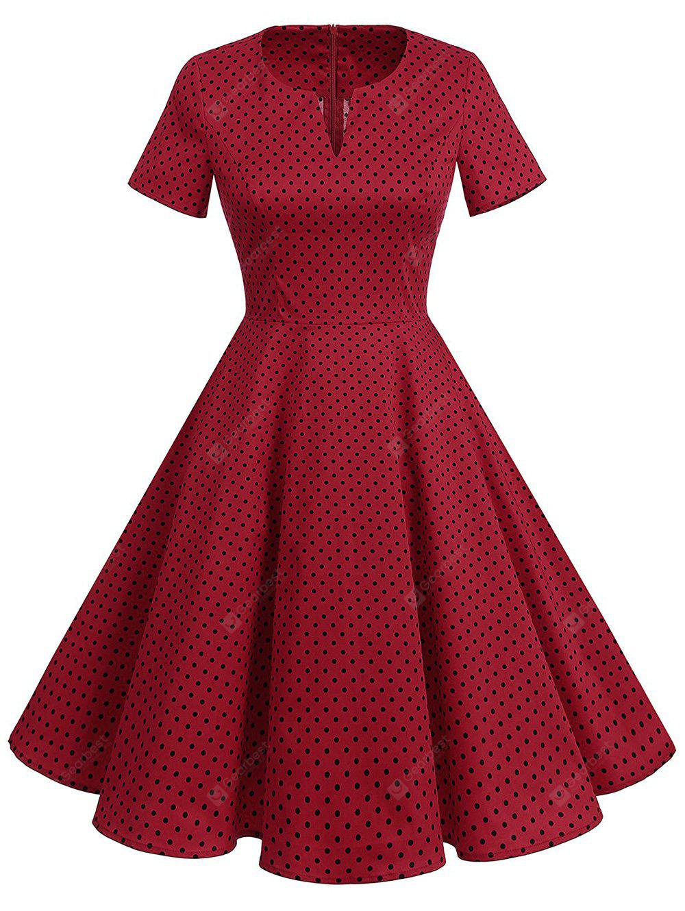 Polka Dot Fit y Flare Vintage Dress