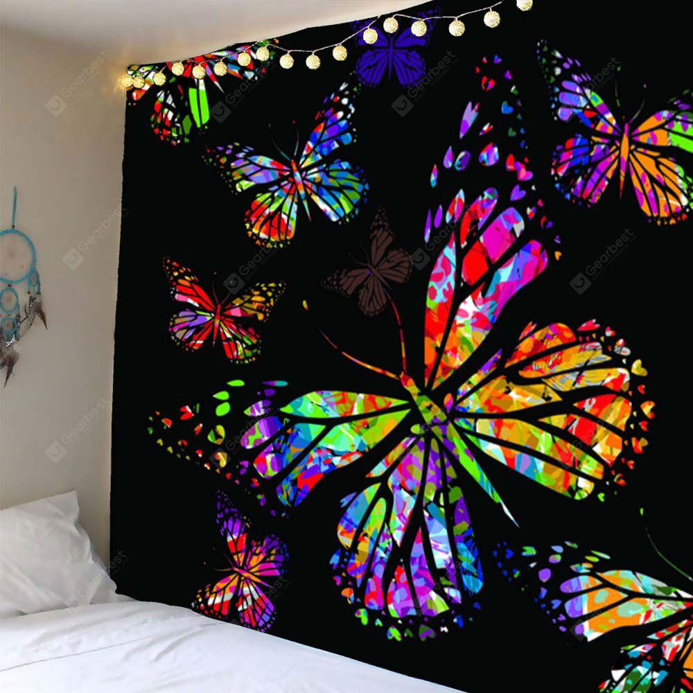 Colored Butterfly Pattern Waterproof Wall Hanging Tapestry