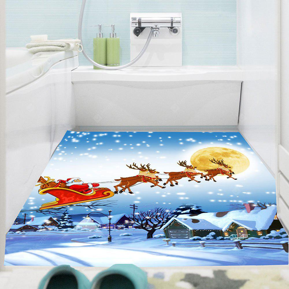 Waterproof Santa Claus Pattern Removable Wall Sticker COLORFUL