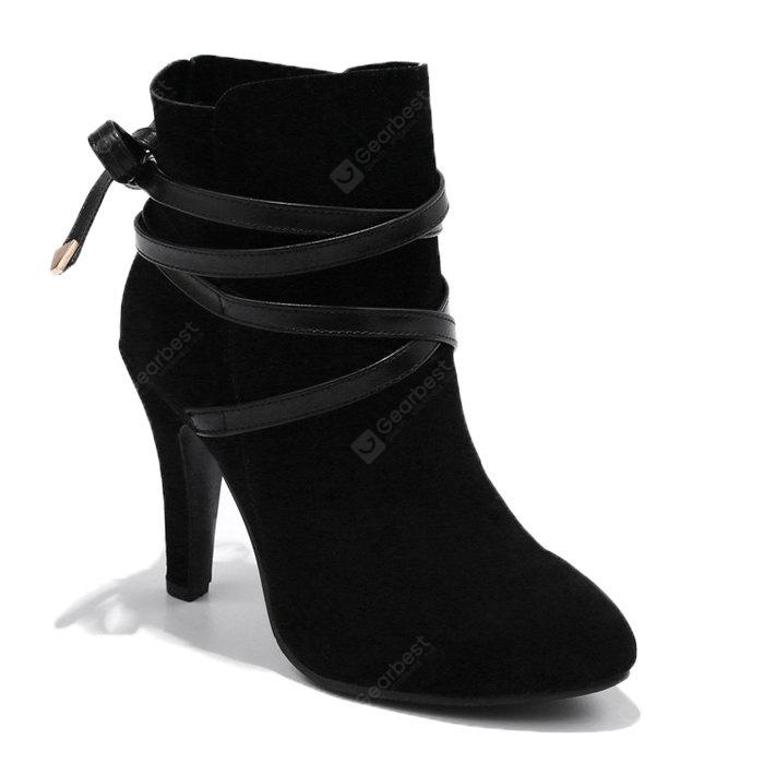 Stiletto Criss Cross Ankle Boots