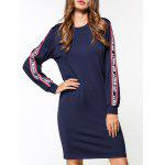 Off Whltt Graphic Fleece Sudadera Vestido - AZUL