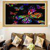 Colored Butterflies Printed Multifunction Stick-on Wall Art Painting - COLORFUL