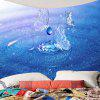 Wall Hanging Water Butterfly Printed Tapestry - BLUE