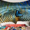 Water Butterfly Pattern Wall Hanging Tapestry - COLORFUL