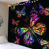 Colored Butterfly Pattern Waterproof Wall Hanging Tapestry - COLORFUL