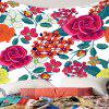Flowers Pattern Waterproof Wall Hanging Tapestry - COLORFUL