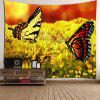 Deux papillons Pattern Wall Hanging Tapestry - COLORé