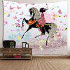 Ride Butterfly Girl Padrão Wall Hanging Tapestry - COLORIDO
