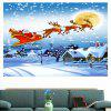 Waterproof Santa Claus Pattern Removable Wall Sticker - COLORFUL