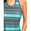 Tribal Print Open Back Tankini Swimsuit - COLORMIX