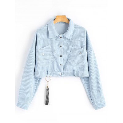 Cropped Ribbed Jacket