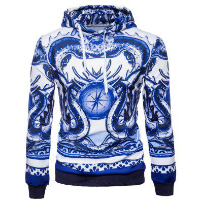 Space Cotton Patterned Mens Hoodie