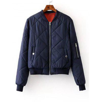 Zippers Sleeve Zip Up Bomber Jacket