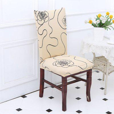 Rose Pattern Chair Cover
