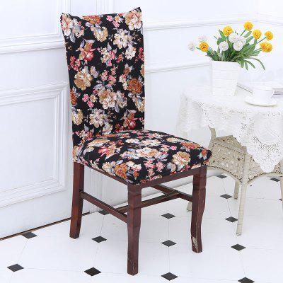 European Style Flowers Pattern Stretch Elastic Chair Cover