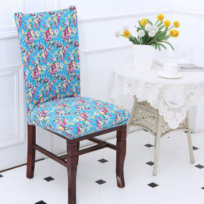 European Floral Pattern Chair Cover