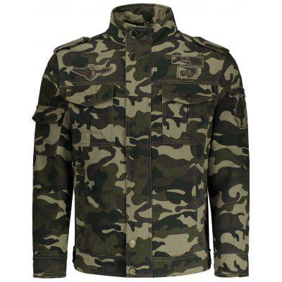 Buy CAMOUFLAGE 3XL Mens Camo Field Jacket for $46.23 in GearBest store