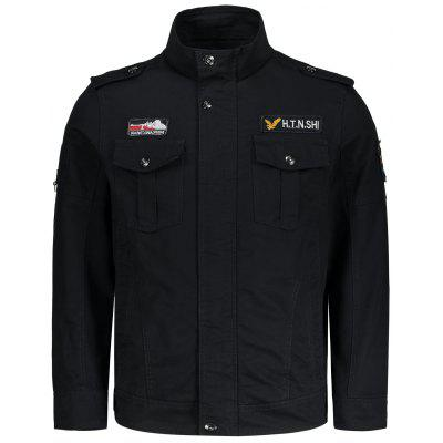 Buy BLACK 2XL Mens Embroidered Patch Design Jacket for $46.23 in GearBest store