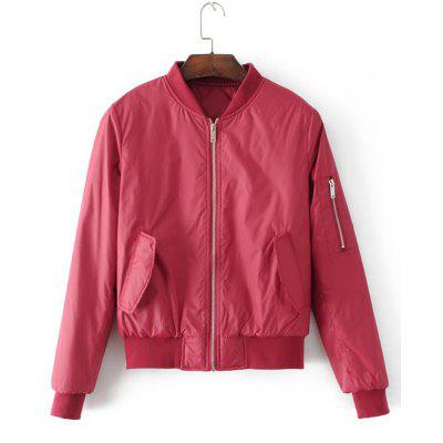 Zip Up Flap Pockets Polit Jacket