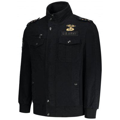 Zipper Epaulet Patch Design Utility JacketMens Jackets &amp; Coats<br>Zipper Epaulet Patch Design Utility Jacket<br><br>Clothes Type: Jackets<br>Collar: Stand Collar<br>Material: Polyester<br>Package Contents: 1 x Jacket<br>Season: Fall<br>Shirt Length: Regular<br>Sleeve Length: Long Sleeves<br>Style: Fashion<br>Weight: 1.7000kg