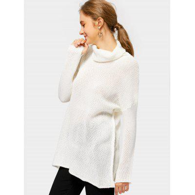 Drop Shoulder Turtleneck Tunic SweaterSweaters &amp; Cardigans<br>Drop Shoulder Turtleneck Tunic Sweater<br><br>Collar: Turtleneck<br>Material: Acrylic<br>Package Contents: 1 x Sweater<br>Sleeve Length: Full<br>Style: Casual<br>Type: Pullovers<br>Weight: 0.3300kg