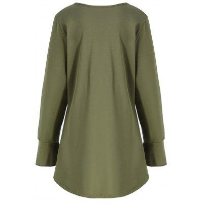 Plus Size High Low V Neck SweatshirtPlus Size Tops<br>Plus Size High Low V Neck Sweatshirt<br><br>Embellishment: Button<br>Material: Cotton, Polyester<br>Package Contents: 1 x Sweatshirt<br>Pattern Style: Solid<br>Season: Fall<br>Shirt Length: Long<br>Sleeve Length: Full<br>Style: Casual<br>Weight: 0.3500kg