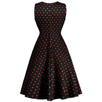 Sleeveless Polka Dot Print 50s DressWomens Dresses<br>Sleeveless Polka Dot Print 50s Dress<br><br>Dress Type: Fit and Flare Dress<br>Dresses Length: Mid-Calf<br>Material: Polyester<br>Neckline: Round Collar<br>Package Contents: 1 x Dress<br>Pattern Type: Print, Polka Dot<br>Season: Fall, Spring, Winter<br>Silhouette: A-Line<br>Sleeve Length: Sleeveless<br>Style: Vintage<br>Weight: 0.3600kg<br>With Belt: No