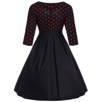 Lace Up Polka Dot Printed 50s DressWomens Dresses<br>Lace Up Polka Dot Printed 50s Dress<br><br>Dresses Length: Knee-Length<br>Embellishment: Crisscross<br>Material: Polyester<br>Neckline: V-Neck<br>Package Contents: 1 x Dress<br>Pattern Type: Print, Polka Dot<br>Season: Fall, Spring, Winter<br>Silhouette: A-Line<br>Sleeve Length: 3/4 Length Sleeves<br>Style: Vintage<br>Waist: Empire<br>Weight: 0.4100kg<br>With Belt: No